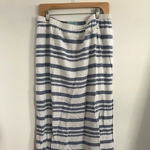 Striped Linen Maxi Skirt